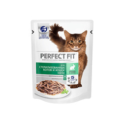 Perfect Fit Sterile пауч для стерилизованных котов и кошек с кроликом 85 г