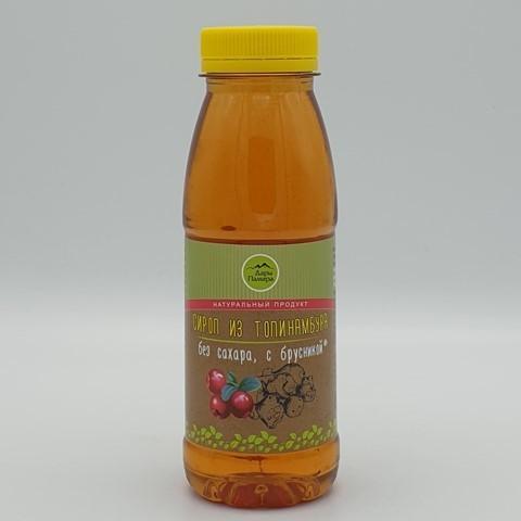 Сироп из топинамбура с брусникой ДАРЫ ПАМИРА, 330 гр