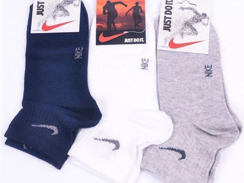 Мужские носки Nike Sport светло-серые хлопковые Н_606