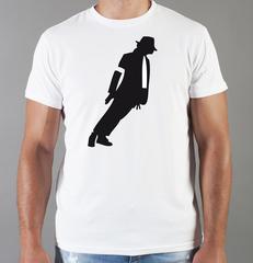 Футболка с принтом Майкл Джексон (Michael Jackson) белая 002