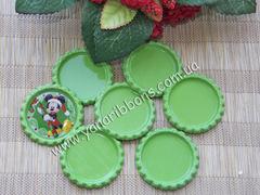Крышечка декоративная плоская зеленая