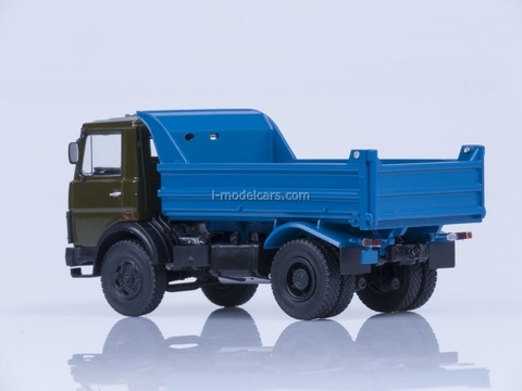 MAZ-5551 tipper early cabin 1988 khaki-blue AutoHistory 1:43