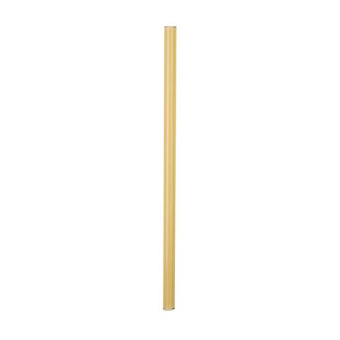 Трубочка стеклянная прямая 20 см желтая
