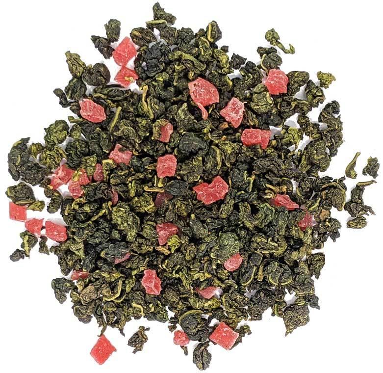 """Улун """"Клубничный рай"""" чай зеленый улун ароматизированный  с добавками, 100 гр Ztmlianichniy_ulun.jpg"""