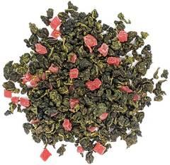 """""""Клубничный рай"""" чай зеленый улун ароматизированный  с добавками, 100 гр"""