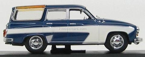 Wartburg 311 Camping 4-doors dark blue-cream 1960 IST056 IST Models 1:43