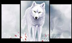 """Модульная картина """" Ручной волк"""""""
