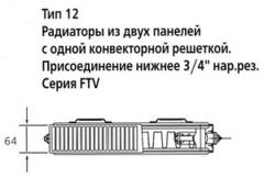 Радиатор Kermi FTV 12 300х400
