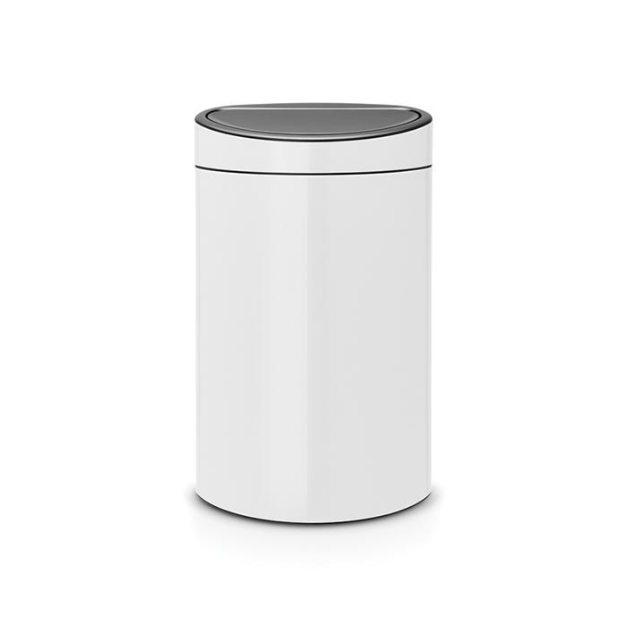 Мусорный бак Touch Bin New (40 л), Белый, арт. 114984 - фото 1