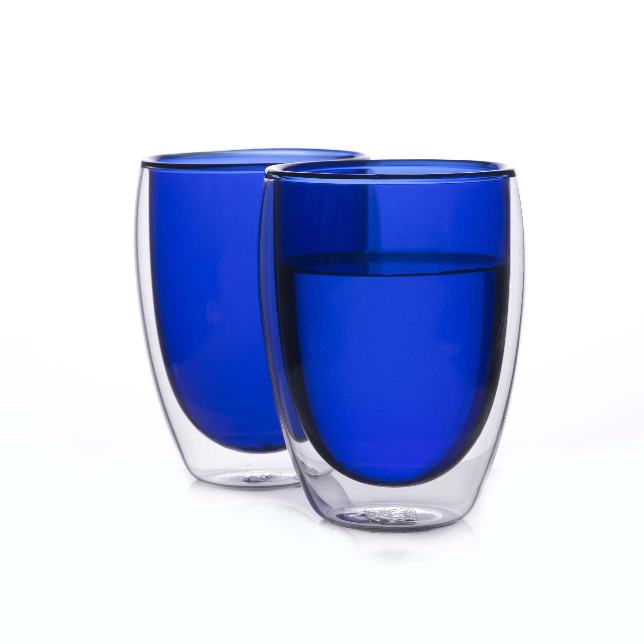Наборы-Акции Набор стаканов из двойного стекла синего цвета 350 мл, 2 шт. синий2-min.jpg