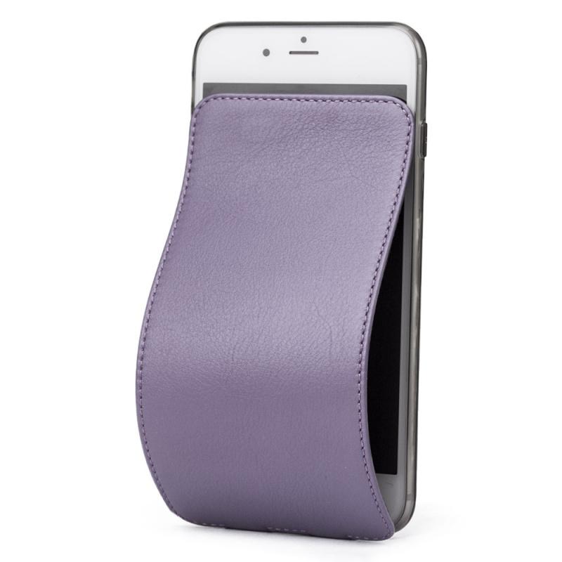 Чехол для iPhone 7 из натуральной кожи теленка, фиолетового цвета