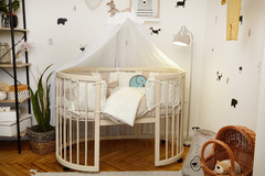 Комплект детского постельного белья Бантик с балхином в кроватку