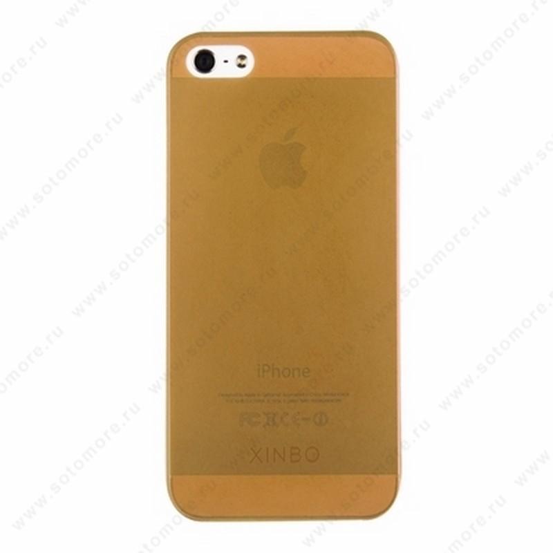 Накладка XINBO супертонкая для iPhone SE/ 5s/ 5C/ 5 коричневая