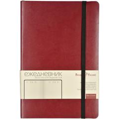 Ежедневник недатированный Bruno Visconti Megapolis Soft искусственная кожа А5 136 листов бордовый (черный обрез, 144х212 мм)
