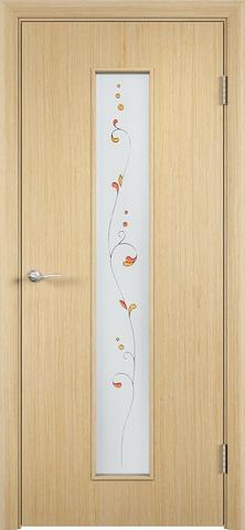Дверь С-21 (беленый дуб, остекленная шпон файн-лайн), фабрика Верда