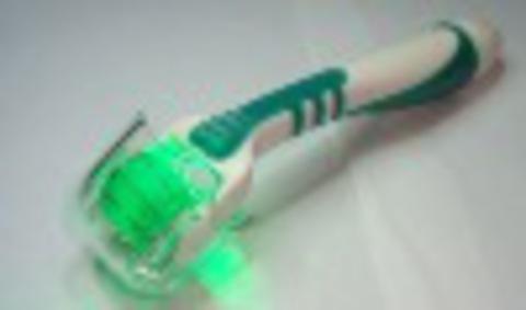 Светодиодный фотонный мезороллер зеленый 540 титановых игл