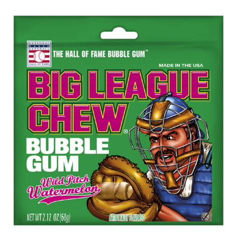 Big League Chew Жевательная Резинка Wild Pitch Watermelon