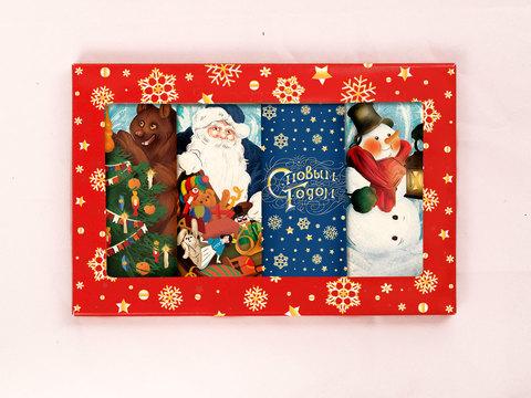 Набор молочного шоколада «Друзья Деда Мороза»
