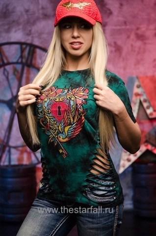 Женская футболка HEART KEY AFFLICTION
