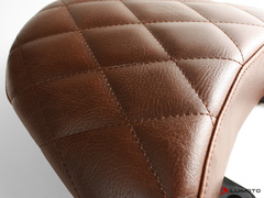 XDIAVEL 16-19 Vintage Diamond Comfort Passenger + Backrest Seat Cover