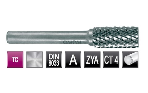 Бор-фреза твердосплавная A(ZYA) 10,0х20х6х65мм HM Ruko 116012
