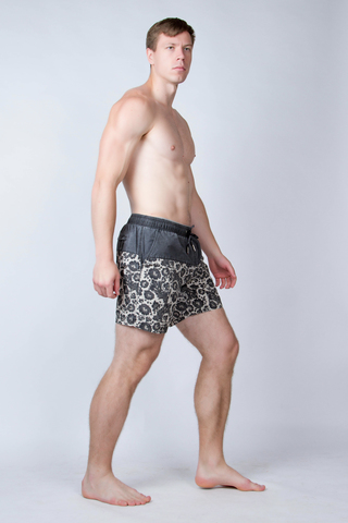 """Swim shorts """"Dark grey khokhloma"""""""