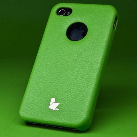 Накладка Jisoncase для iPhone 4s/ 4 зеленая JS-IP4S-005