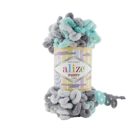 Купить Пряжа Alize Puffy Color Код цвета 6076 | Интернет-магазин пряжи «Пряха»