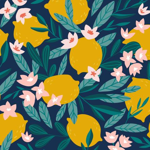 Цветущие лимоны