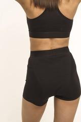 Впитывающие высокие трусы-шорты с увеличенной впитывающей ластовицей (Черные, Размер XL)