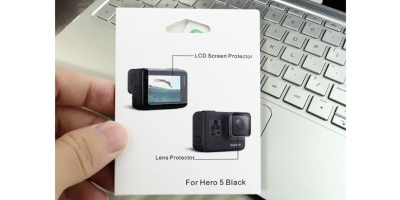 Набор защитных стекол для камеры GoPro HERO упаковка