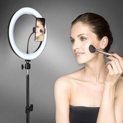светильник для макияжа и мейкапа круглый со штативом