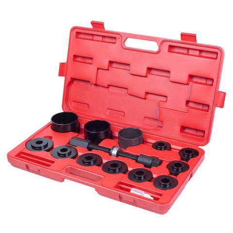 Набор оправок для монтажа и демонтажа ступичных подшипников, кейс, 14 предметов МАСТАК 100-30014C