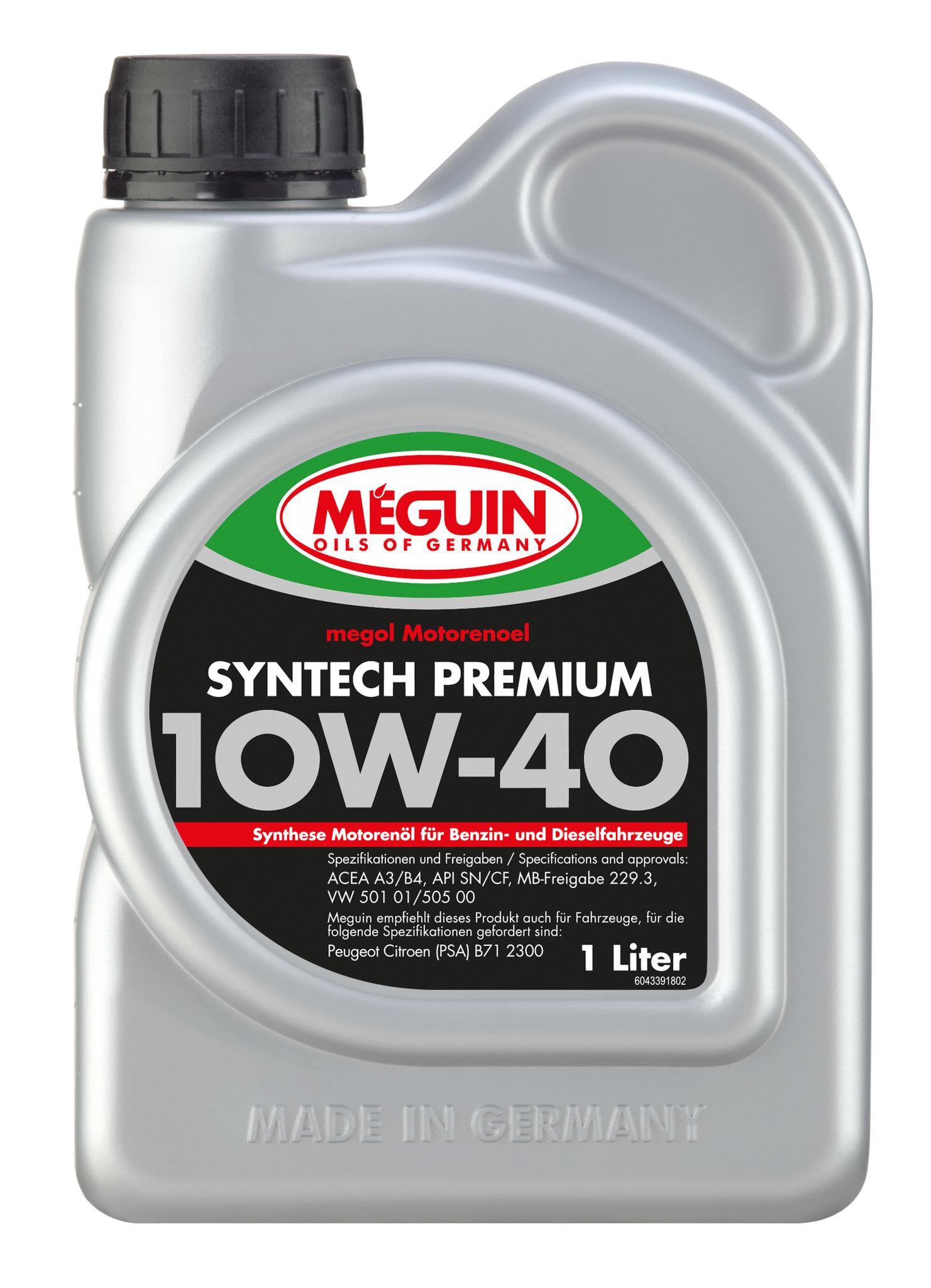Megol Motorenoel Syntech Premium 10W40 Полусинтетическое моторное масло