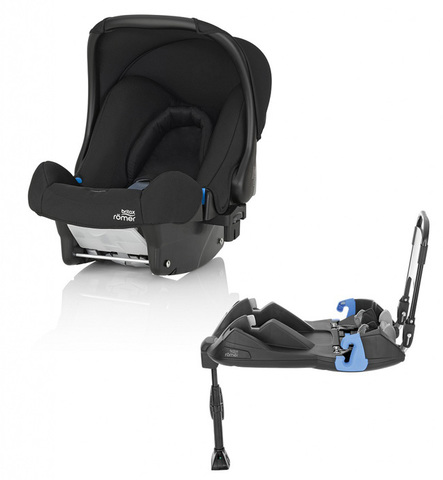 Комплект: автокресло Britax Roemer Baby-Safe + ременная база Cosmos Black