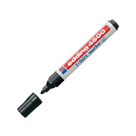 Маркер промышленный Edding E-4500/1 для текстиля черный (2-3 мм)