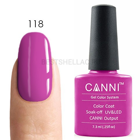 Canni Canni, Гель-лак № 118, 7,3 мл 118.jpg