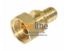 "Переходник Sanline 20x3/4"" с гайкой (Латунь)"