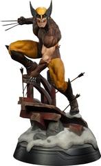 Марвел статуя Логан Росомаха в коричневом костюме из X-Men