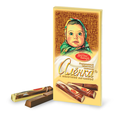 "Шоколад ""Алёнка"" в стиках  с молочной начинкой 100г"