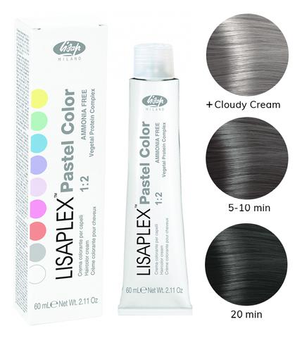 Оттенок Smoky Crystal Дымчатый кристалл Крем-краситель для волос Lisaplex Pastel Color 60мл