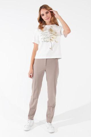 Фото классические прямые бежевые брюки со стрелками - Брюки А500-144 (1)