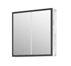 Зеркало-шкаф Corozo Айрон 60, черный, антик