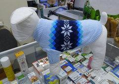 Wan talk свитер двойной вязки, снежинки, розовый и голубой, размер S и M