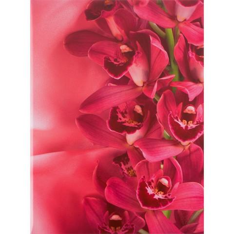 Папка адресная Цветы А4 ламинированный картон розовая