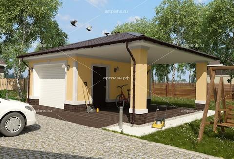 Проект гаража на 2 машины из шлакоблоков