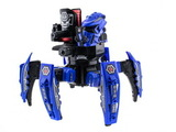 Keye Toys Space Warrior. Радиоуправляемый боевой робот-паук (лазер, диски) 2.4GHz (синий и красный)) + АКК и ЗУ