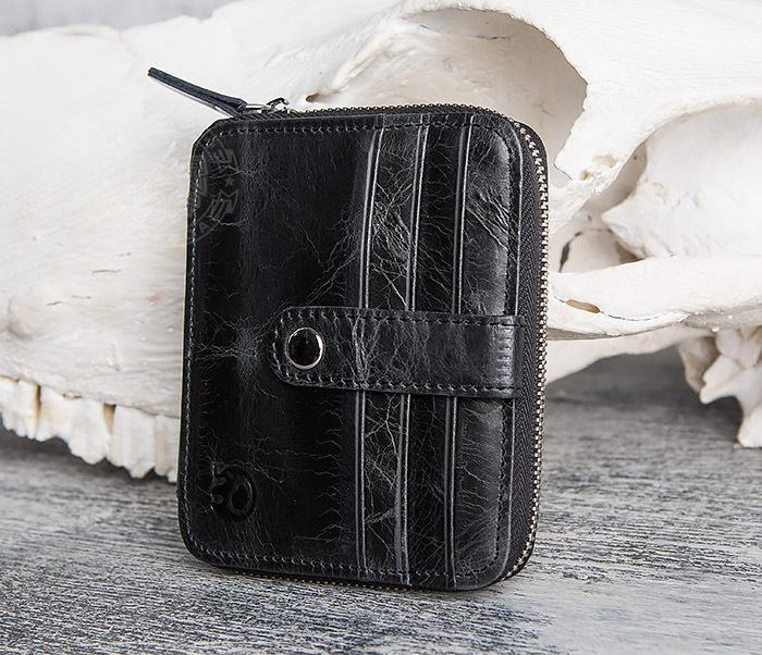 WL289-1 Оригинальный кошелек на молнии для карт, купюр и монет фото 04
