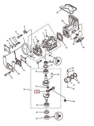 Шатун для лодочного мотора T2,5 SEA-PRO (2-22)
