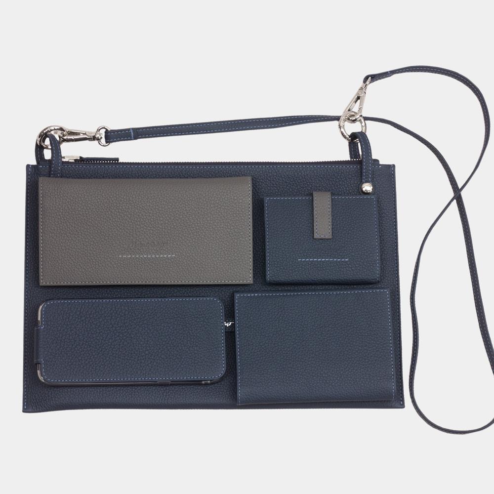 Женская сумка Tereze Easy из натуральной кожи теленка, цвета синий мат